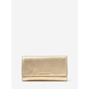 Michael Kors Pale Gold Wallet Mercer Trifold
